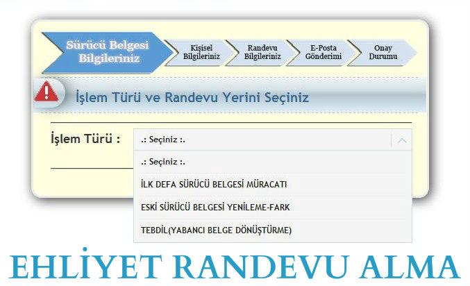 Trabzon Yeni Ehliyet Randevu Alma