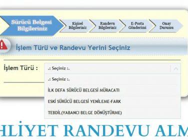 Trabzon Yeni Ehliyet Randevu Alma İşlemleri – Resimli