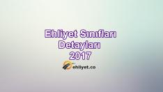 Güncel Ehliyet Sınıfları ve Detayları 2017